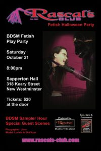 Rascals Club Annual Fetish October Halloween Party 2017