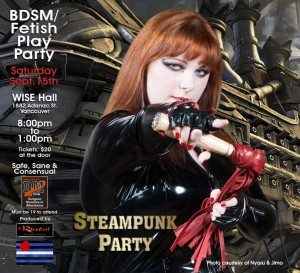 Rascal's Club Steampunk Poster Sept