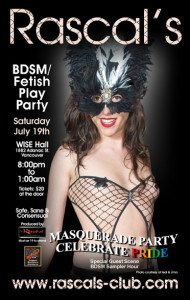 Rascals Club Pride Masquerade Party