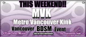 Vancouver BDSM events notifier MVK 2019